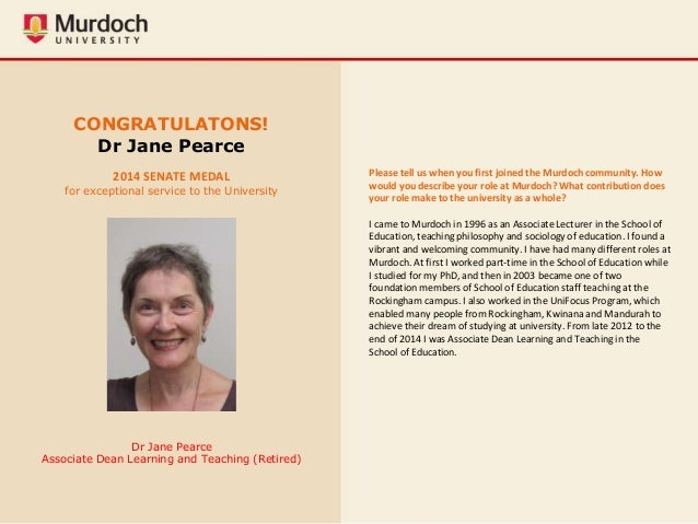 Murdoch University Staff Awards Winners Gallery 2015