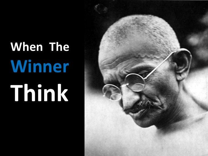 When TheWinnerThink
