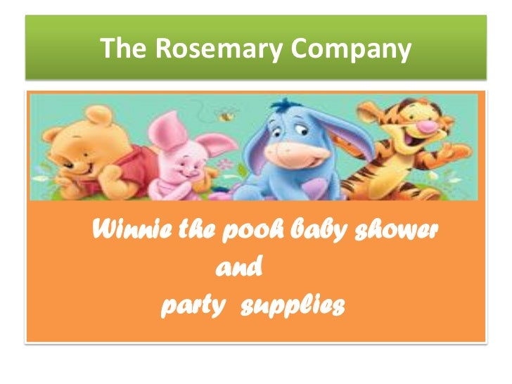 The Rosemary CompanyWinnie the pooh baby shower          and     party supplies