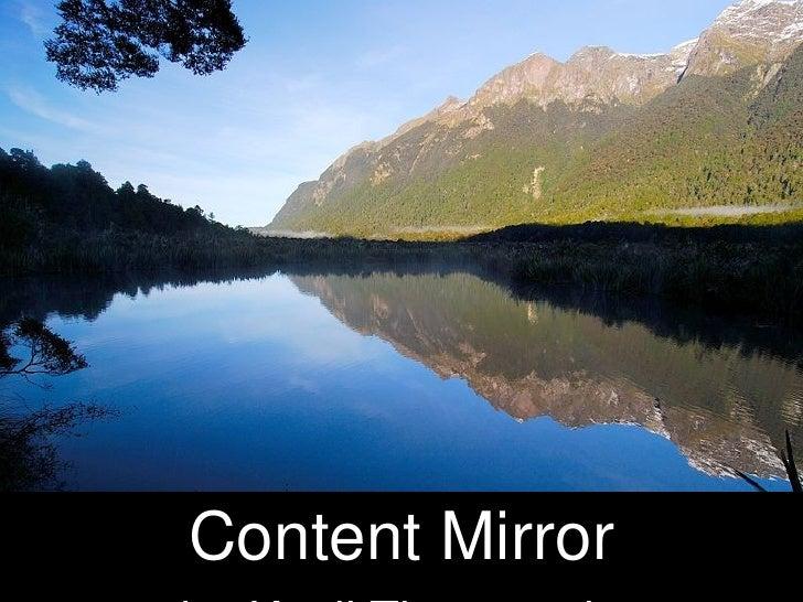 Content Mirror by   Kapil Thangavelu