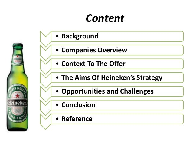 heineken challenges in beer industry Heineken heineken biertegoeds (beer credits): the bridge from retail to bar winner of: best loyalty industry innovation, best use of mobile within a loyalty strategy (including mobile.