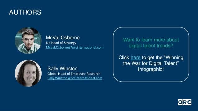 AUTHORS Sally Winston Global Head of Employee Research Sally.Winston@orcinternational.com McVal Osborne UK Head of Strateg...