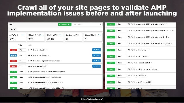 #winningmobile at #learninbound by @aleyda from @oraintihttps://sitebulb.com/ Crawl all of your site pages to validate AMP...