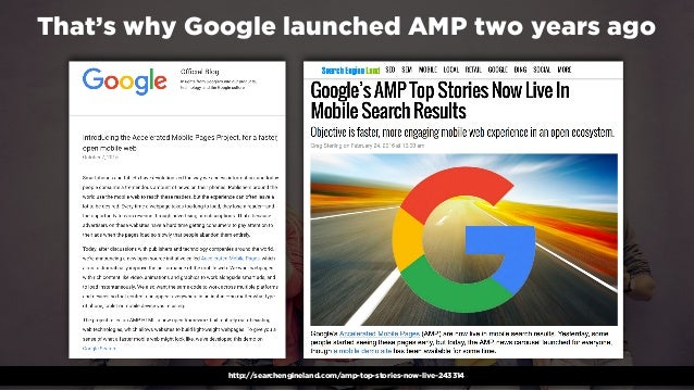 #winningmobile at #learninbound by @aleyda from @orainti That's why Google launched AMP two years ago http://searchenginel...