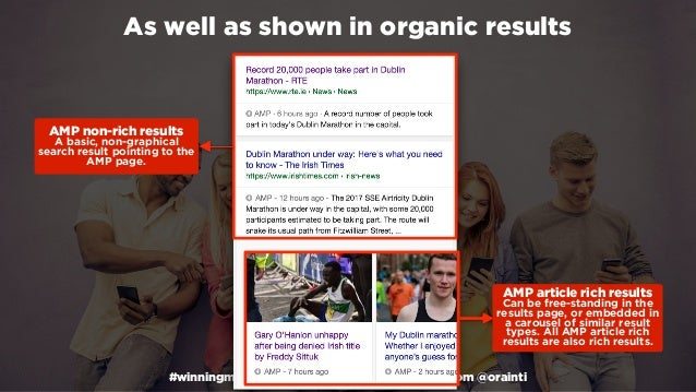 #winningmobile at #learninbound by @aleyda from @orainti As well as shown in organic results AMP article rich results Can...