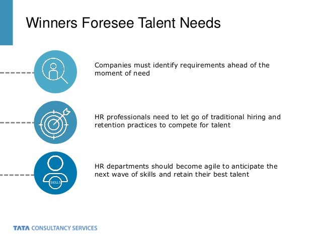 HR professionals need to let go of traditional hiring and retention practices to compete for talent Winners Foresee Talent...