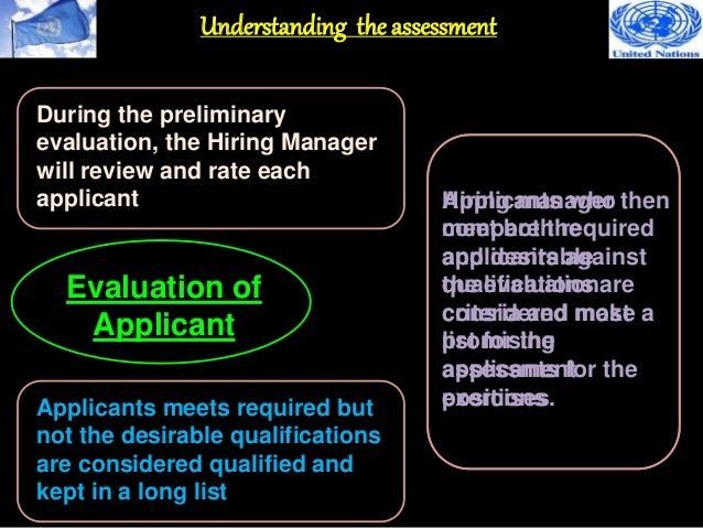 Winning a UN Job 6 (Selection Process)