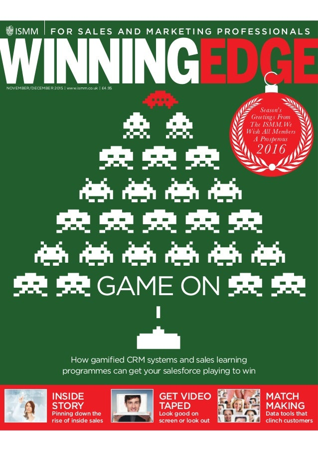 GAME ON WINNINGED E F O R SA L E S A N D M A R K E T I N G P R O F E S S I O N A L S How gamified CRM systems and sales lea...
