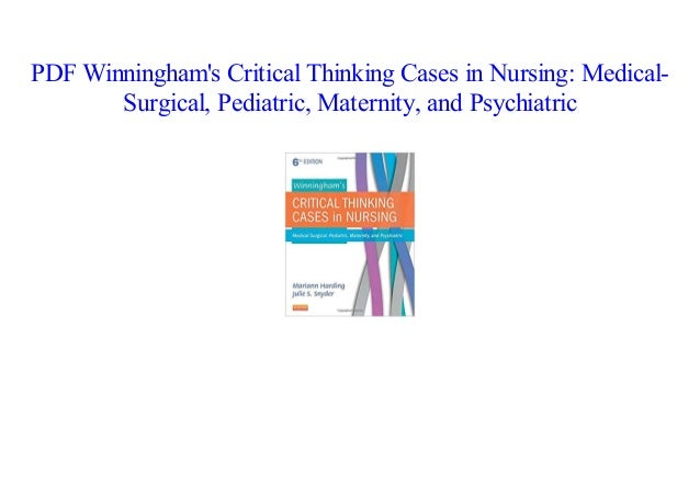 book Winningham's Critical Thinking Cases in Nursing: Medical-Surgica…