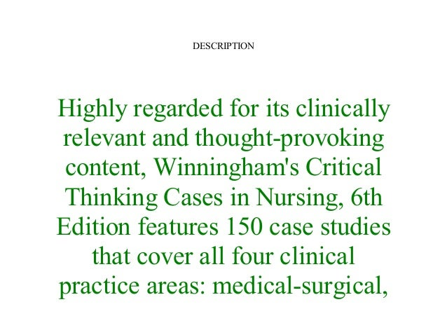 winninghams critical thinking case study answers