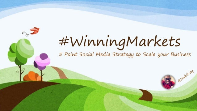 #WinningMarkets  5 Point Social Media Strategy to Scale your Business