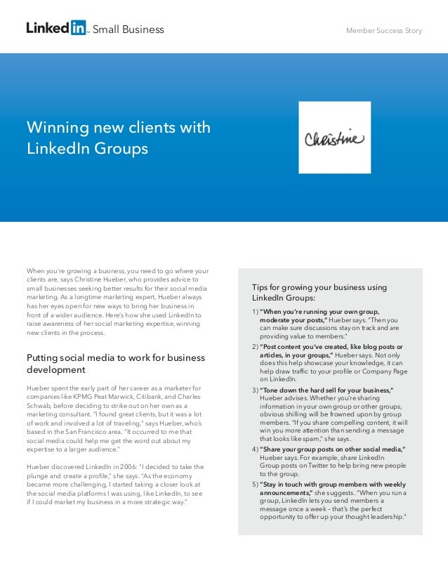 """Small Business Tips for growing your business using LinkedIn Groups: 1) """"When you're running your own group, moderate your..."""