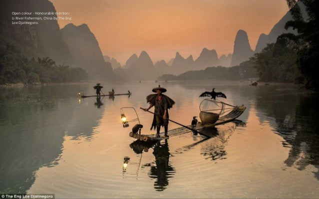 Open colour - Honourable mention: Li River Fisherman, China by The Eng Loe Djatinegoro.