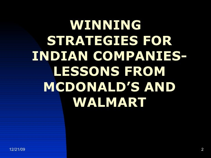walmart winning strategy A winning strategy absolutely must begin with a winning aspiration too doctrinaire allow me to explain the premise the way i learned it from roger martin, one of.