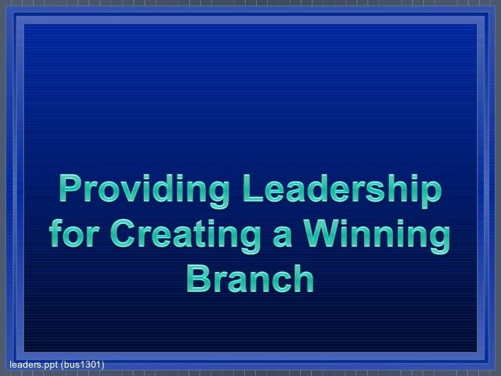 leaders.ppt (bus1301)