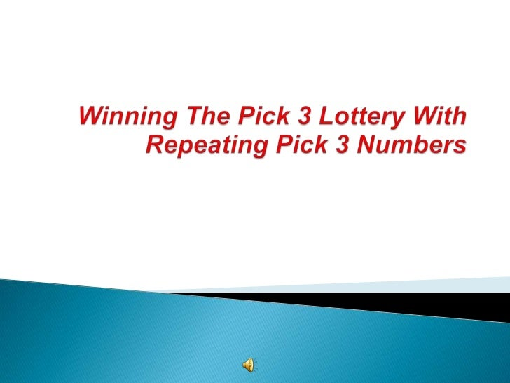    Recently, Pick 3 players are seeing some    interesting results with winning Pick 3 numbers    in their State Lotterie...