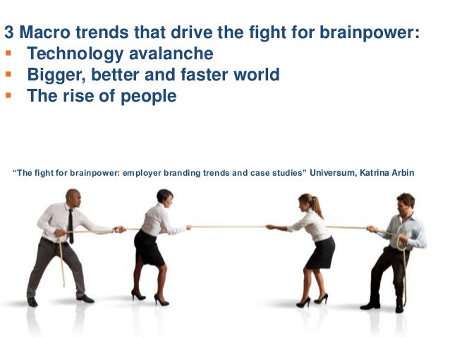 the fight for brainpower employer branding trends and case studies Sources: bersin by deloitte, talent acquisition factbook 2015 bersin by deloitte, 2011/employer branding global trends study report, may 2014 brandon hall group report, understanding the impact of employer brand, october 2014.