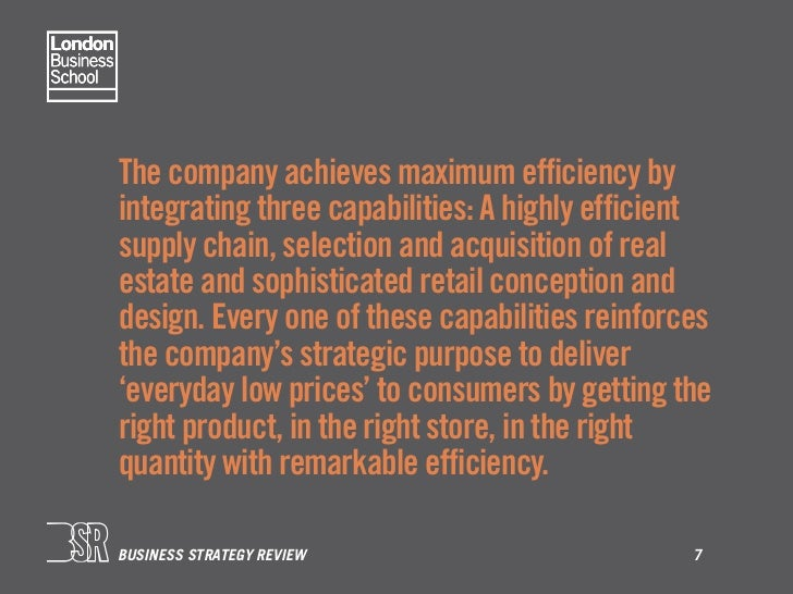 walmart strategic coherence Draw a similar strategic coherence map for wal-mart think carefully about how all of wal-mart's details in their activity system are complementary and reinforcing for their overall business-level strategy.