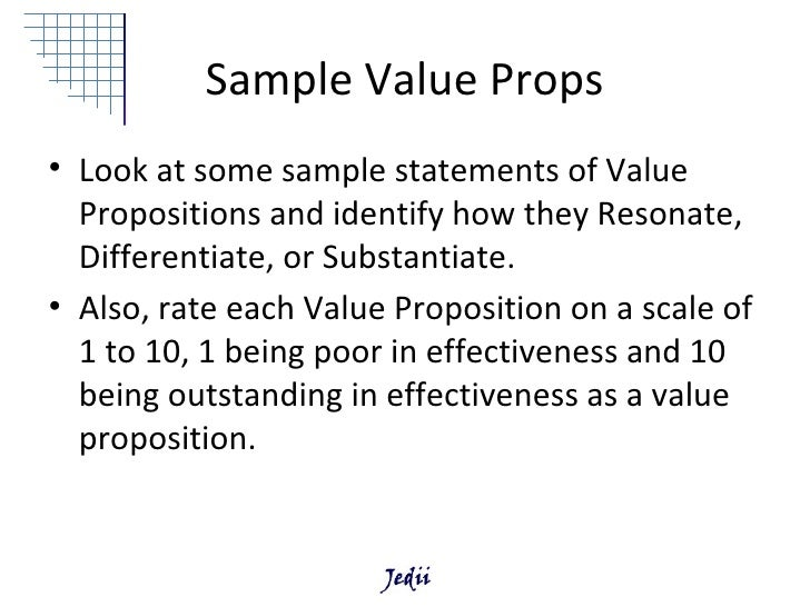 Winning Value Propositions