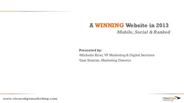 A WINNING Website in 2013                                                    Mobile, Social & Ranked                      ...