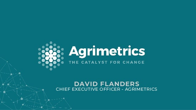 DAVID FLANDERS CHIEF EXECUTIVE OFFICER - AGRIMETRICS