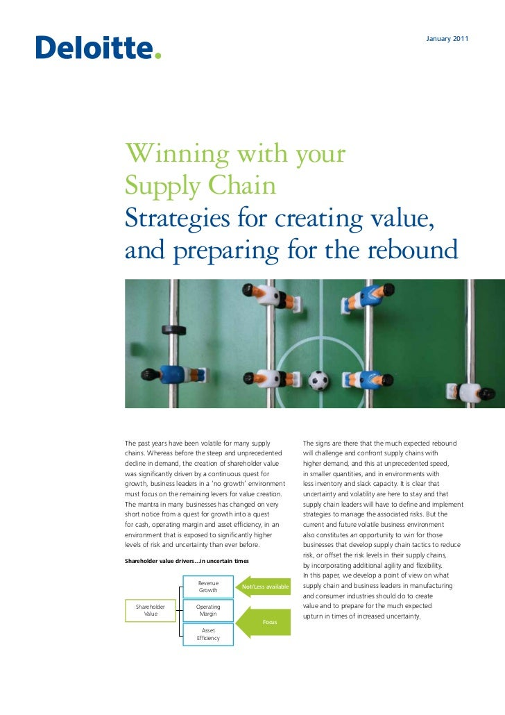 January 2011Winning with yourSupply ChainStrategies for creating value,and preparing for the reboundThe past years have be...