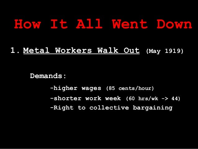 The winnipeg general strike of 1919 bargained for better working conditions