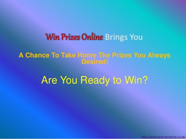 Win prizes online | Online prize contest | Free gifts UK