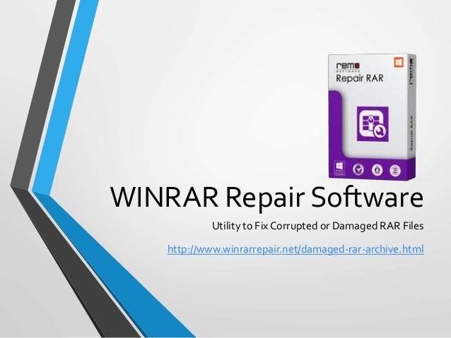 Winrar Repair Software - Tool to Repair Damaged RAR Archive