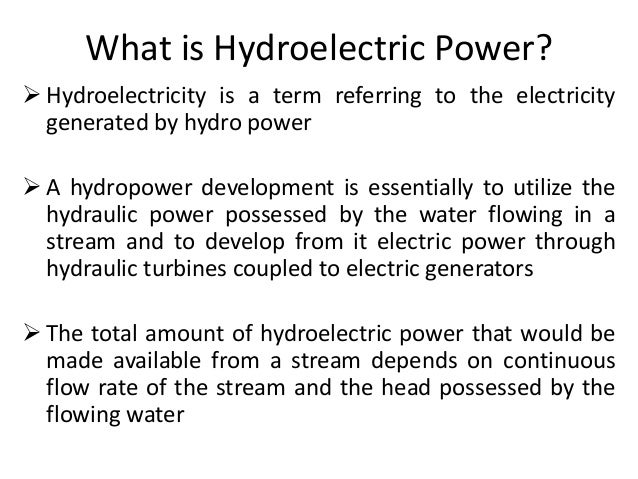 hydroelectric power advantages and disadvantages pdf