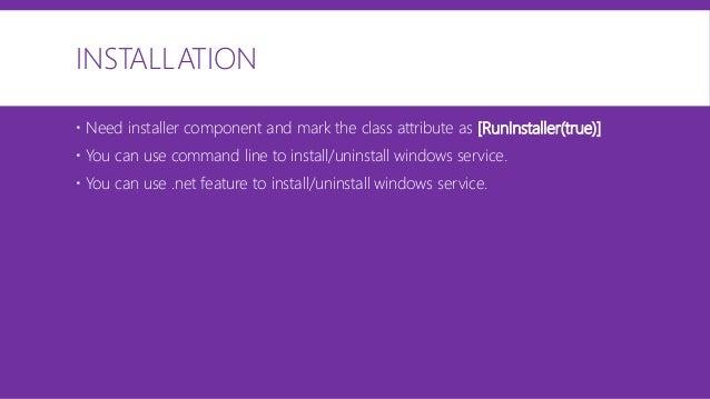 Windows service best practice