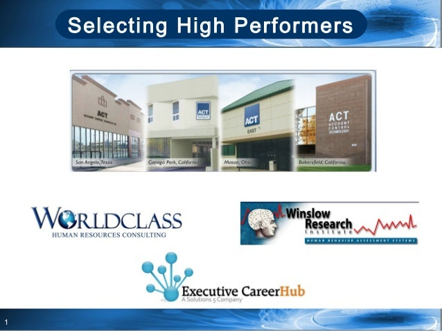 1Selecting High Performers