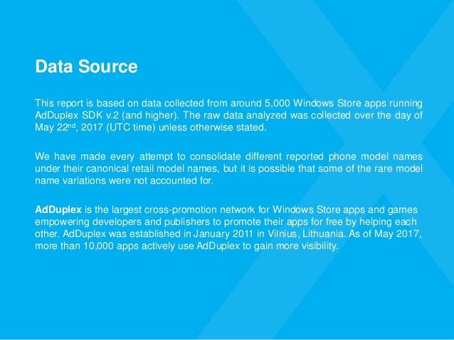 AdDuplex Windows Device Statistics Report – May 2017 Slide 3
