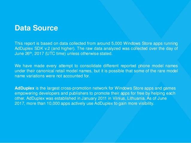 AdDuplex Windows Device Statistics Report – June 2017 Slide 3