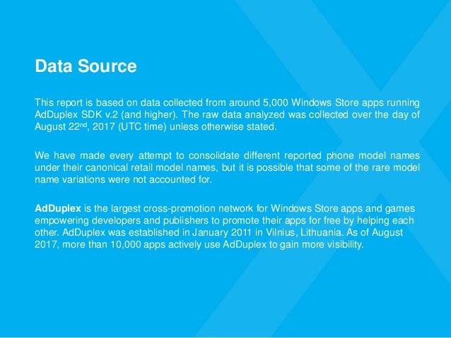 AdDuplex Windows Device Statistics - August, 2017 Slide 3
