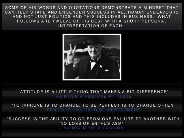 12 Winston Churchill Quotations Encapsulating the Mindset of Success Slide 2