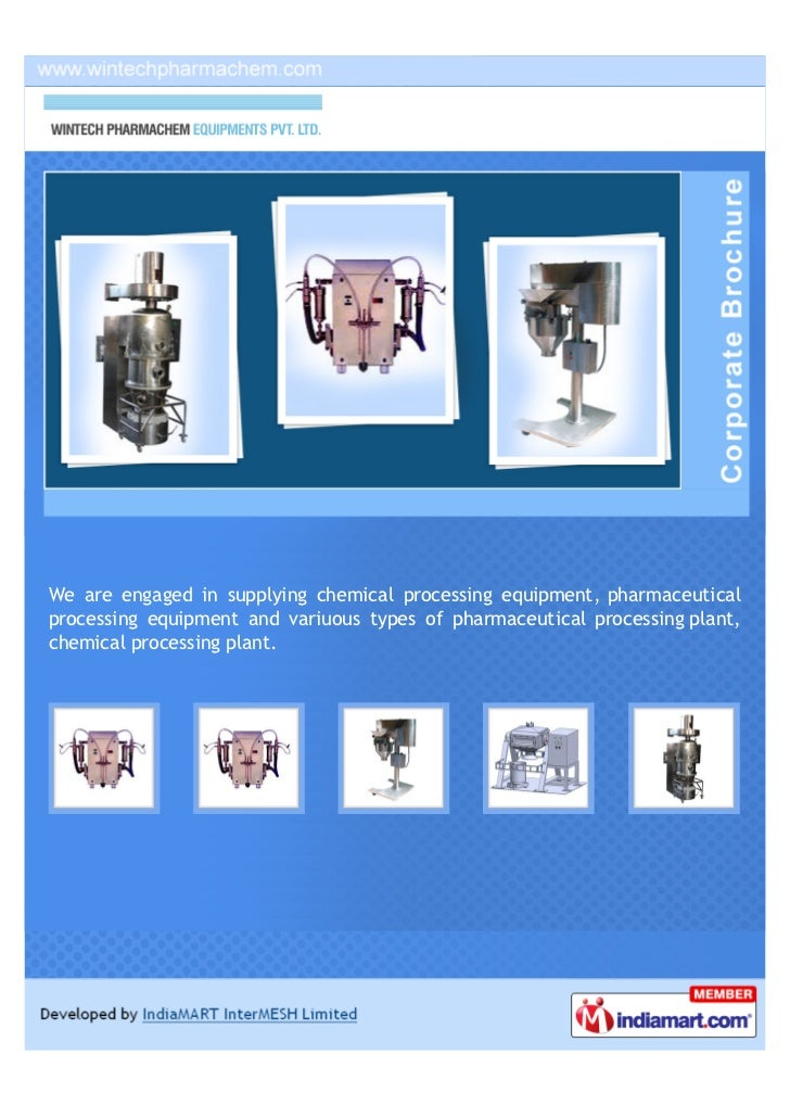 We are engaged in supplying chemical processing equipment, pharmaceuticalprocessing equipment and variuous types of pharma...