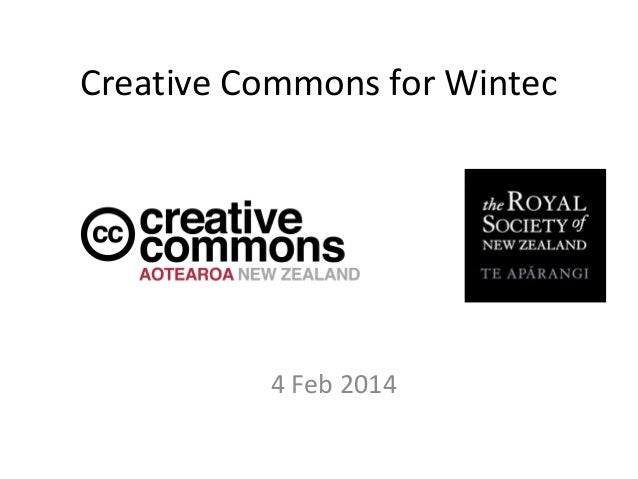 Creative Commons for Wintec  4 Feb 2014