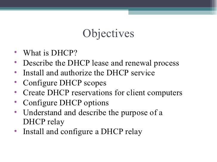 Wintel ppt for dhcp Slide 2