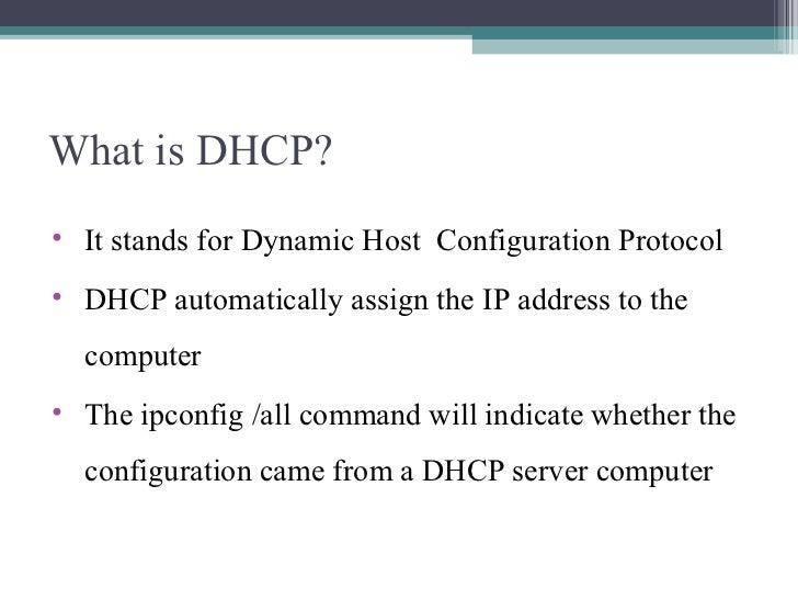 Wintel ppt for dhcp Slide 3