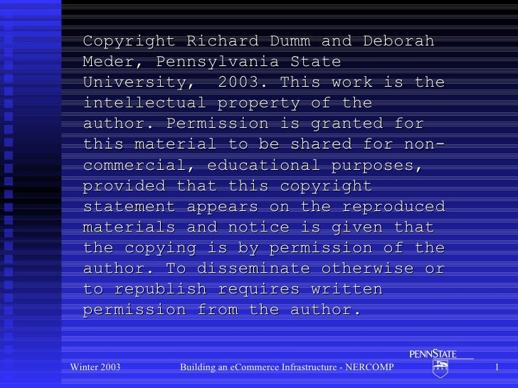 Copyright Richard Dumm and Deborah Meder, Pennsylvania State University,  2003. This work is the intellectual property of ...