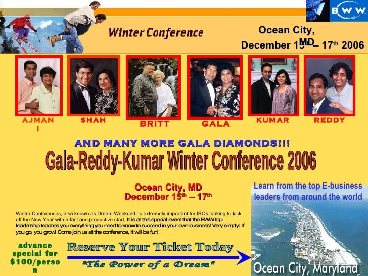Learn from the top E-business leaders from around the world GALA KUMAR advance special for $100/person December 15 th  – 1...