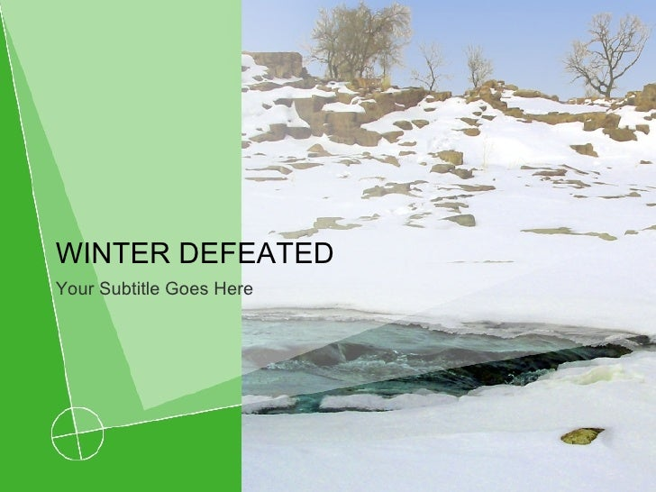 WINTER DEFEATED Your Subtitle Goes Here