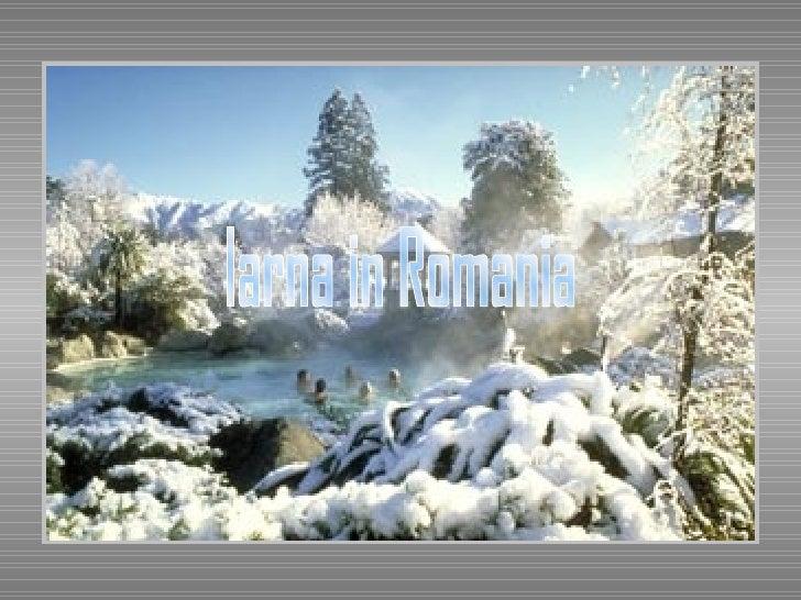 Iarna in Romania