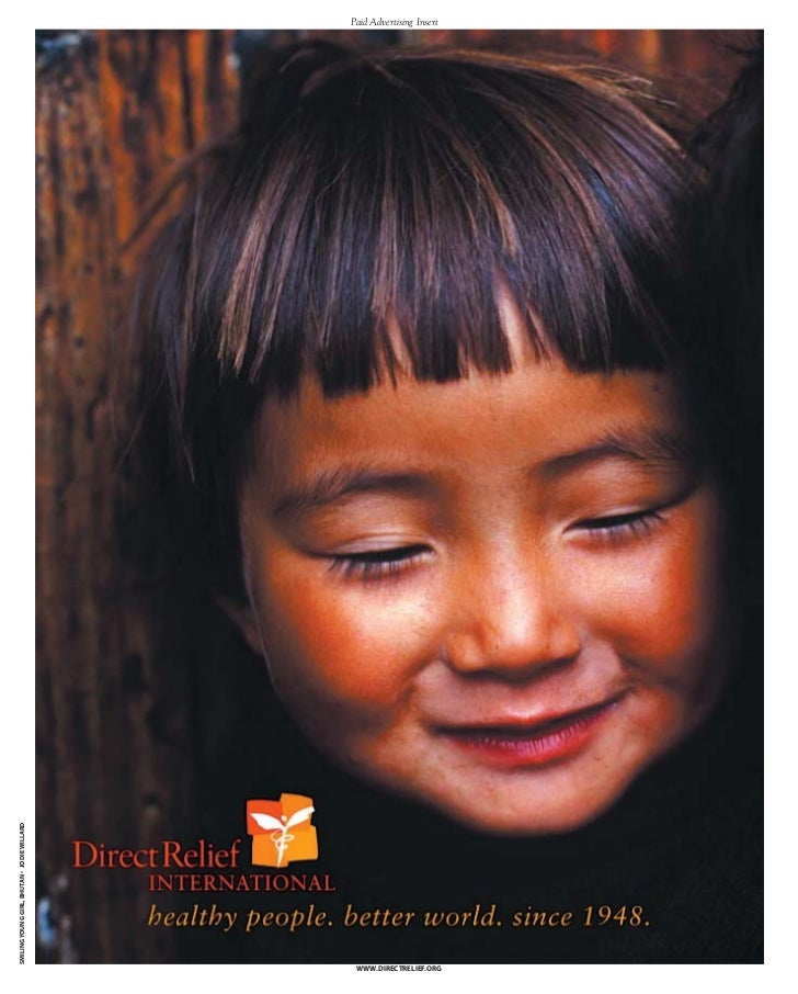 SMILING YOUNG GIRL, BHUTAN • JODIE WILLARD   Paid Advertising Insert                                              WWW.DIRE...