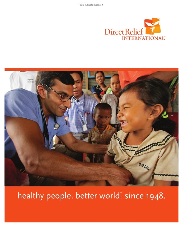 Paid Advertising Inserthealthy people. better world. since 1948.