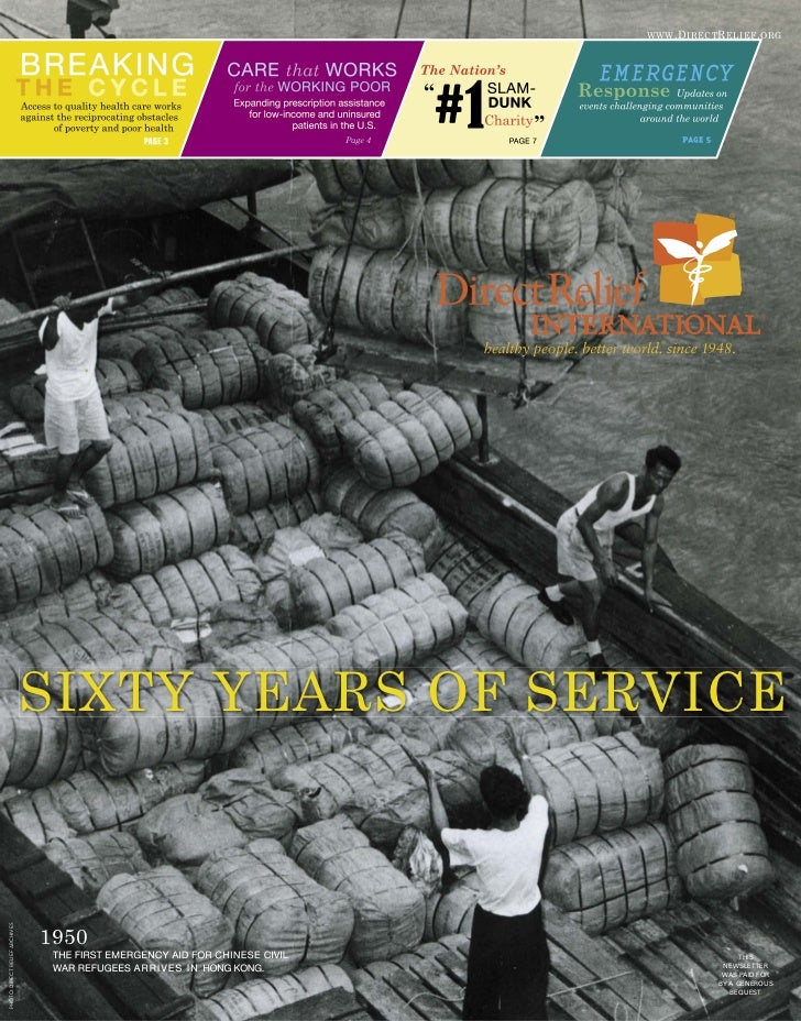 WWW .D IRECT R ELIEF . ORG                                SIXTY YEARS OF SERVICEPHOTO: DIRECT RELIEF ARCHIVES             ...