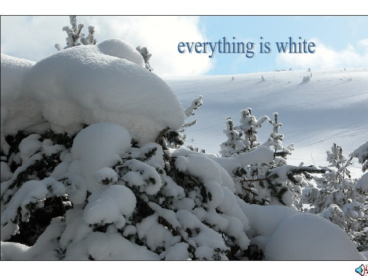 everything is white
