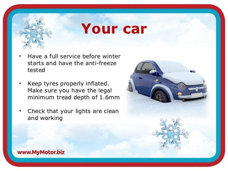 Winterizing Your Car: MyMotor.biz Winter Driving Tips