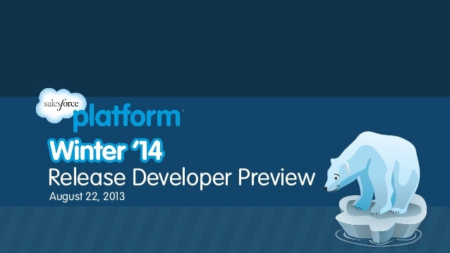 Release Developer Preview August 22, 2013